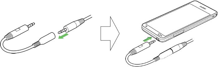 画面:ワンセグアンテナの接続